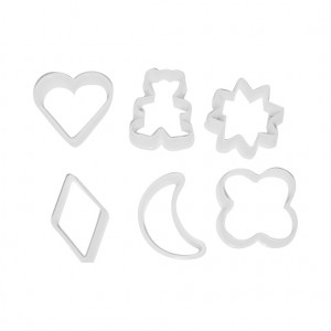 Plastic Cookie Cutter - 6 pcs