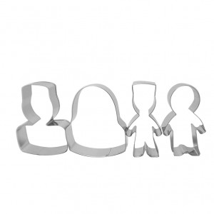 Ramadhan Raya Family Cookie Cutter - Set of 4 pcs